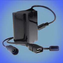 Pack batterie li-ion 8x18650 8000mAh universel USB - 5.5/2.5