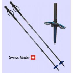 Bâtons spécifiques pour le ski de randonnée