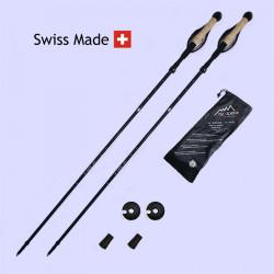 RT335 : Bâtons pliables aluminium 7075 135 cm, noir