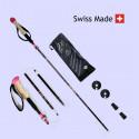 RocAlpes Mont Rose Lady LK RT336 Lady Folding poles 135cm Alu 7075 Black