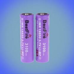 Batterie li-ion 18650 2500mAh 2x BestFire
