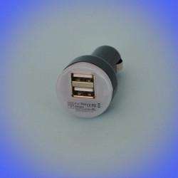 Chargeur voiture 12-24V pour 2x USB 2.1A/1A