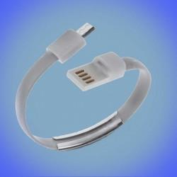 Câble bracelet USB - Micro-USB pour chargement et données