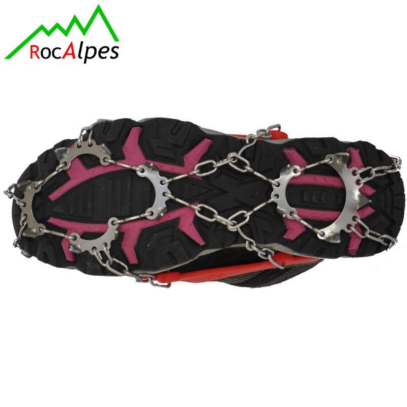 rocalpes rg200 crampons pour chaussures de marche 13 pics acier inox. Black Bedroom Furniture Sets. Home Design Ideas