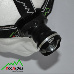 RocAlpes RV310 Lampe Frontale 410 lumens / zoom