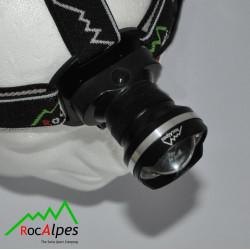RocAlpes RV310 Lampe Frontale 410 lumens / zoom
