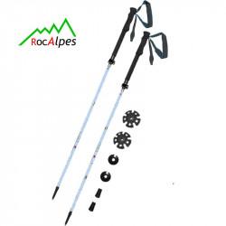 RocAlpes RT310 Zusammenklappbarer Trekkingstöcke aus hochfestem Aluminium 7075