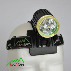 RocAlpes RV660 Lampe Frontale 1230 lumens / 3 Leds Cree XM-L2