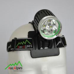 RocAlpes RV660 Sehrleistungsstarke Lampe mit 3 Cree XM-L2 LEDs, mit Li-Ion Akku