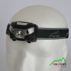 RocAlpes RV150 Lampe Frontale 80 lumens avec acuu Li-ion