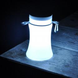 RocAlpes RC100 Trinkflasche - LED Laterne solar mit Li-Ionen-Akku