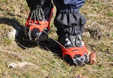 Wanderung mit Schuhketten